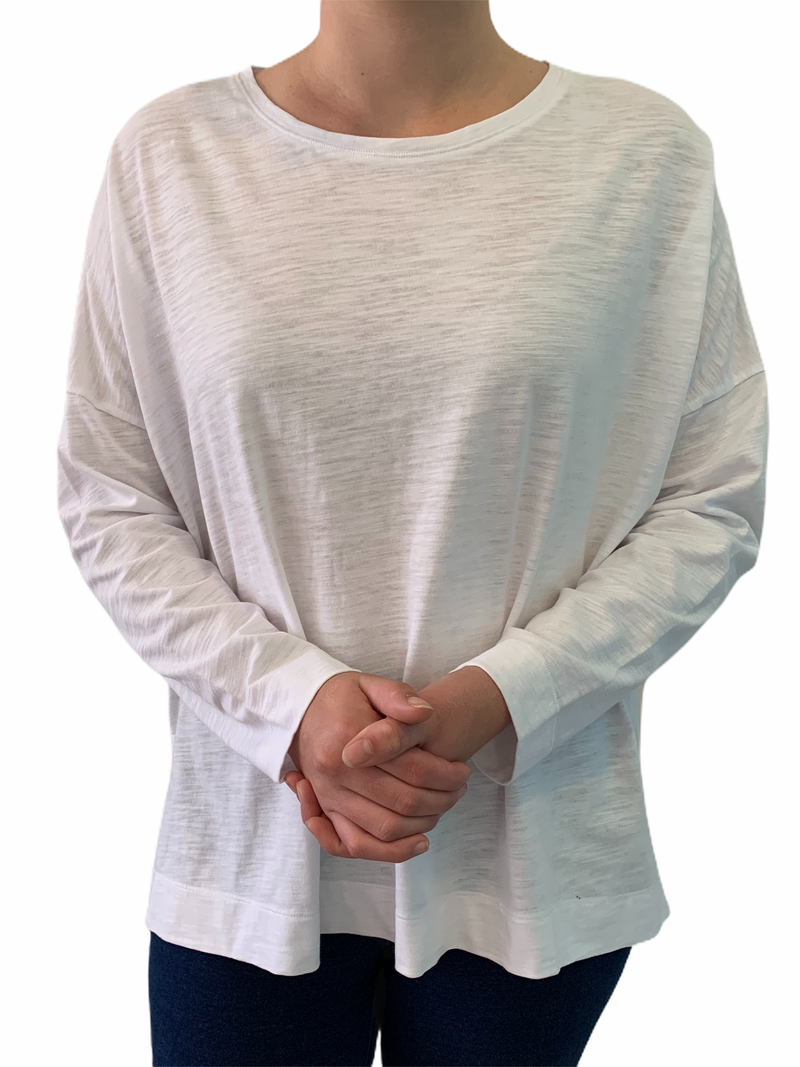 White 100% Cotton Relaxed Tee Shirt