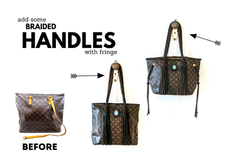 Add some braided handles with fringe.