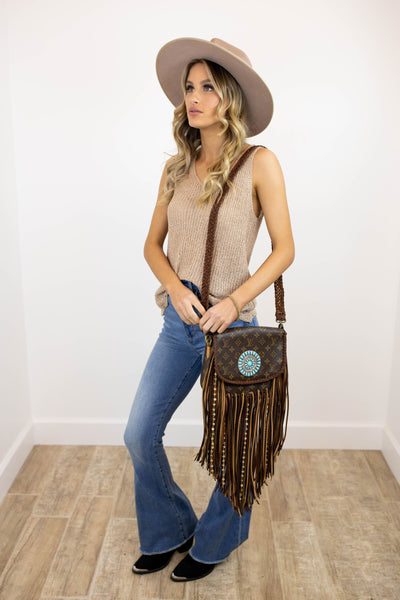 World Traveler Large with Zuni Concho Dirty Blonde (2253149732912)