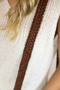 Strap #22 Flat Braided Wide Medium Brown (4776690614374)