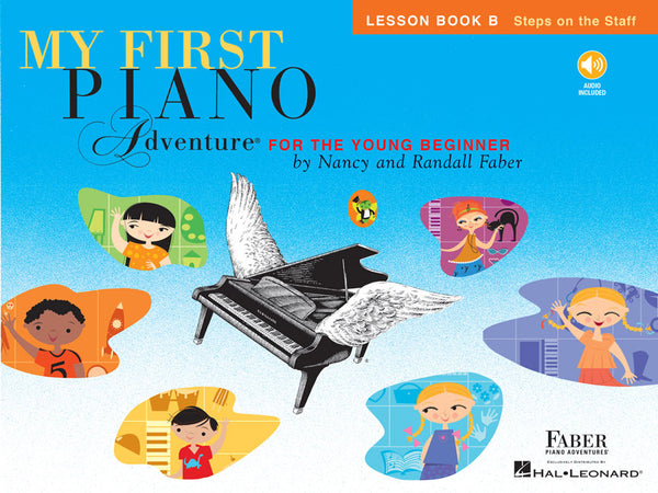 Hal Leonard Faber Piano Adventures® My First Piano Adventures - Lesson Book B - Steps on the Staff - With CD and Online Audio
