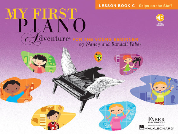 Hal Leonard Faber Piano Adventures® My First Piano Adventures - Lesson Book C - Skips on the Staff - With CD and Online Audio