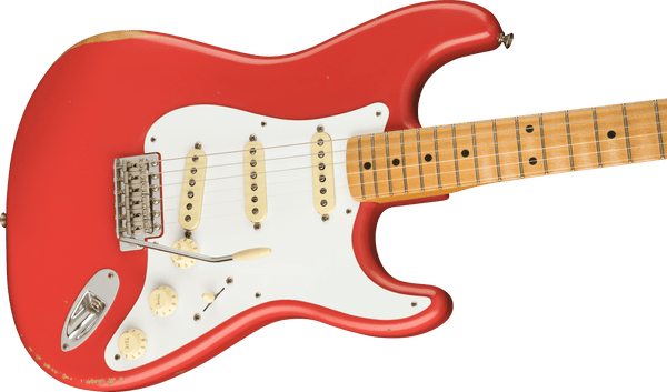 Fender Vintera Road Worn® '50s Stratocaster®, Maple Fingerboard, Fiesta Red