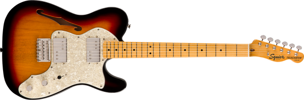 Squier Classic Vibe '70s Telecaster® Thinline, Maple Fingerboard, 3-Color Sunburst