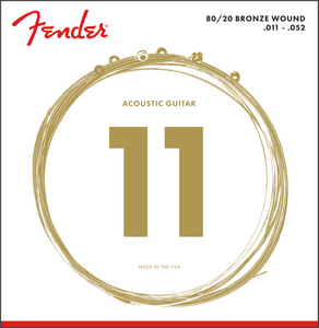 Fender 80/20 Bronze Acoustic Strings, Ball End