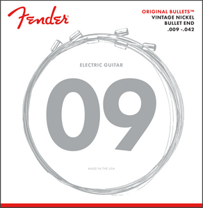 Fender Original Bullets Vintage Nickel Electric Guitar Strings 9-42 Light