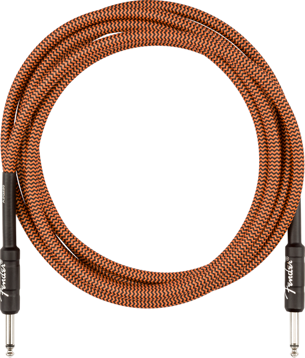 Fender Professional 10' Instrument Cable, Orange/Black Limited-Edition