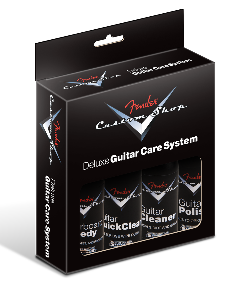 Fender Custom Shop Deluxe Guitar Care System, 4 Pack, Black