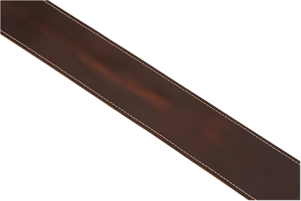 Fender® Broken-In Leather Strap, Brown 2.5""