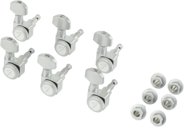 Fender Locking Stratocaster®/Telecaster® Tuning Machines, Brushed Chrome
