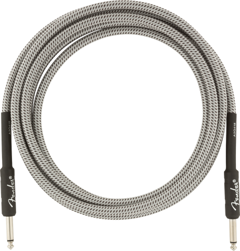 Fender Professional Series Instrument Cable 25ft, White Tweed