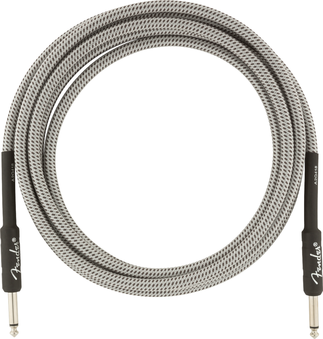 Fender Professional Series Instrument Cable 10ft, White Tweed