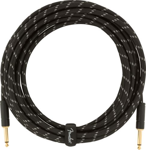 Fender Deluxe Series Instrument Cable, Straight/Straight, Black Tweed