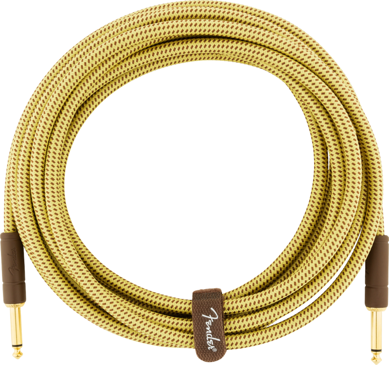 Fender Deluxe Series Instrument Cable, Straight/Straight, 15', Tweed