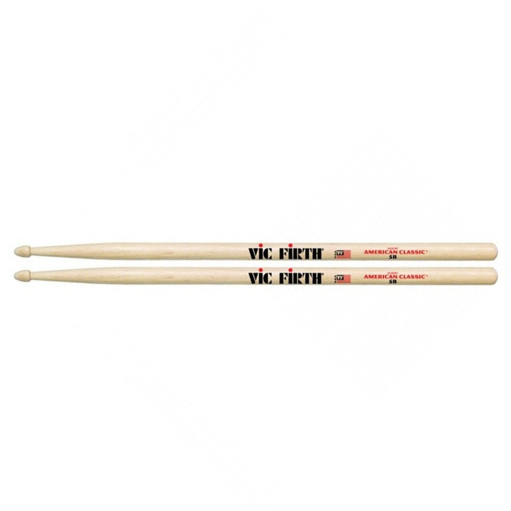 Vic Firth 5B American Classic Drumsticks (Hickory/Wood Tip)