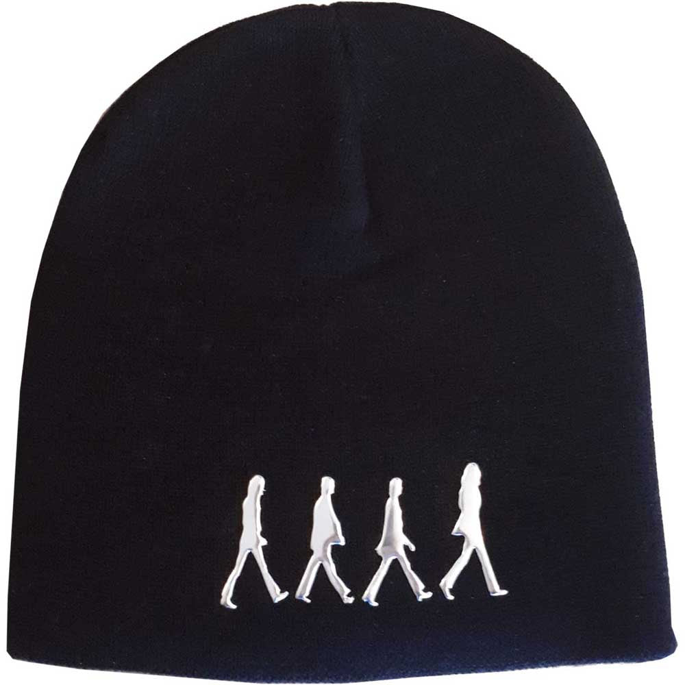 THE BEATLES UNISEX BEANIE HAT: ABBEY ROAD (SONIC SILVER)