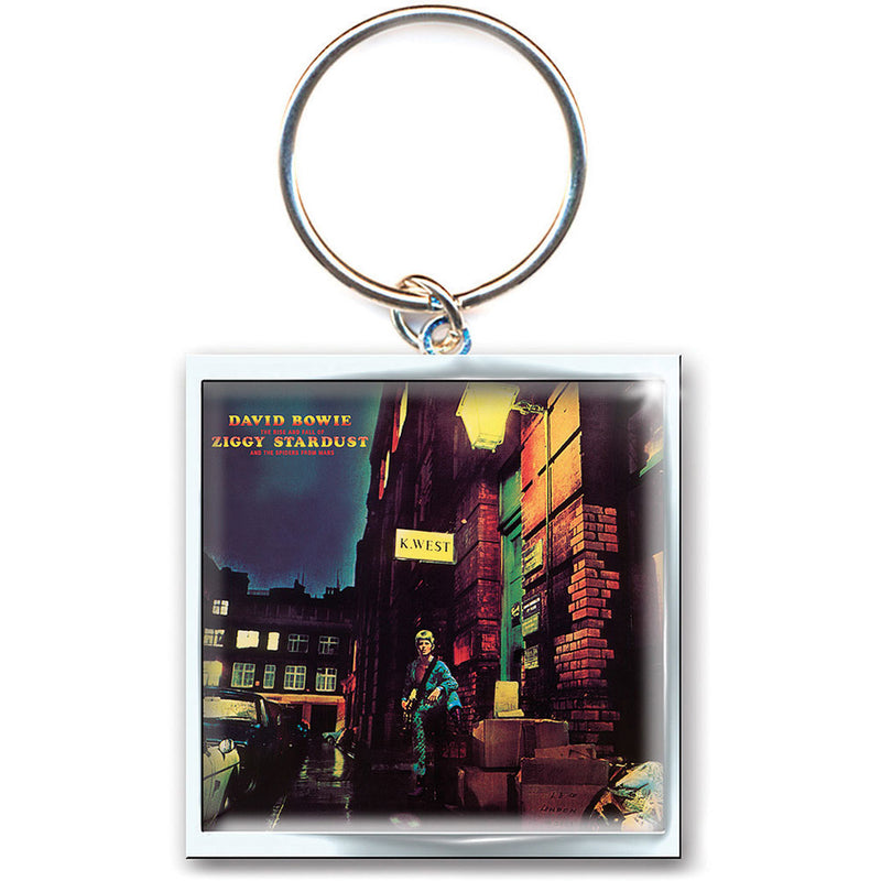 DAVID BOWIE KEYCHAIN: ZIGGY STARDUST (PHOTO-PRINT)