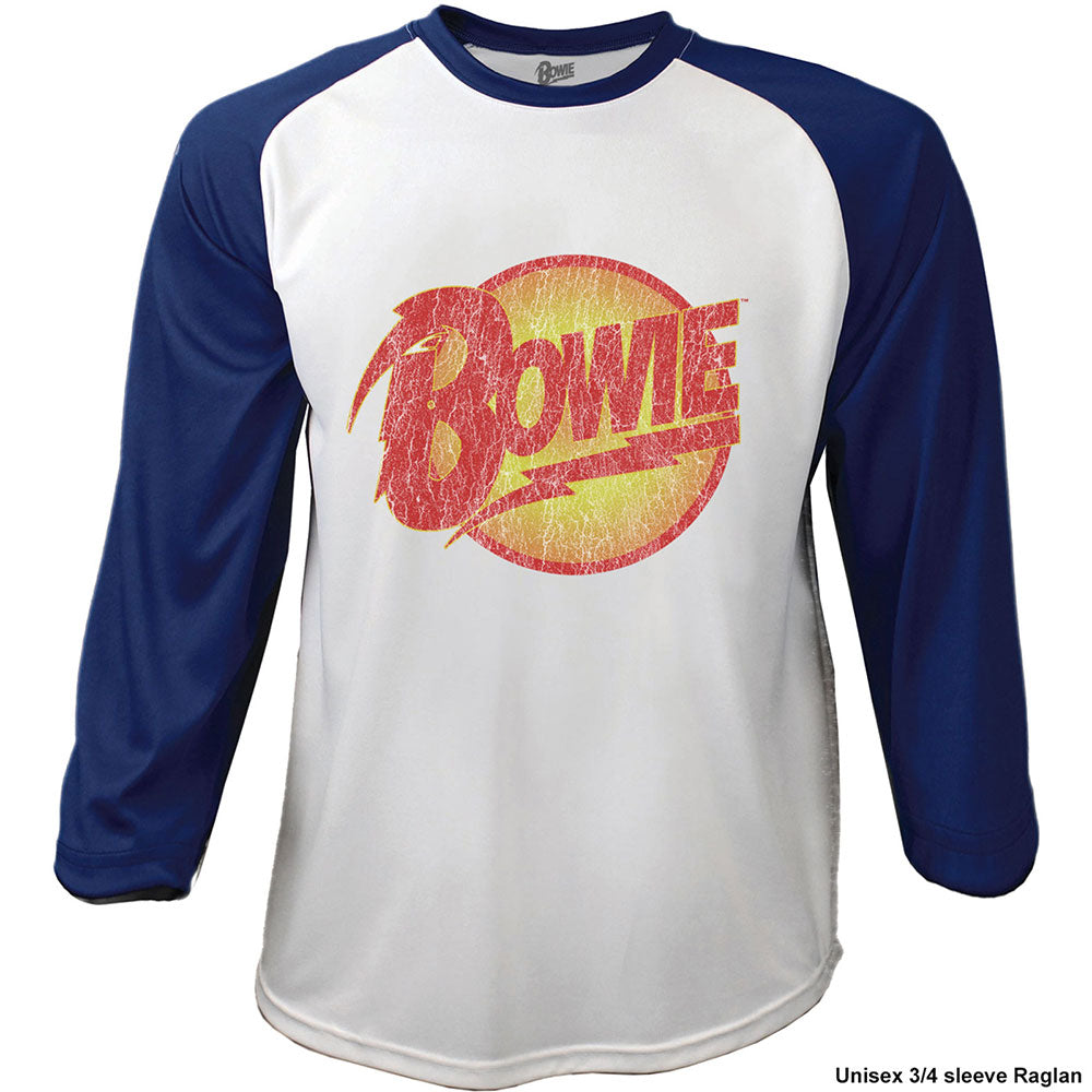 DAVID BOWIE UNISEX RAGLAN TEE: SMOKING