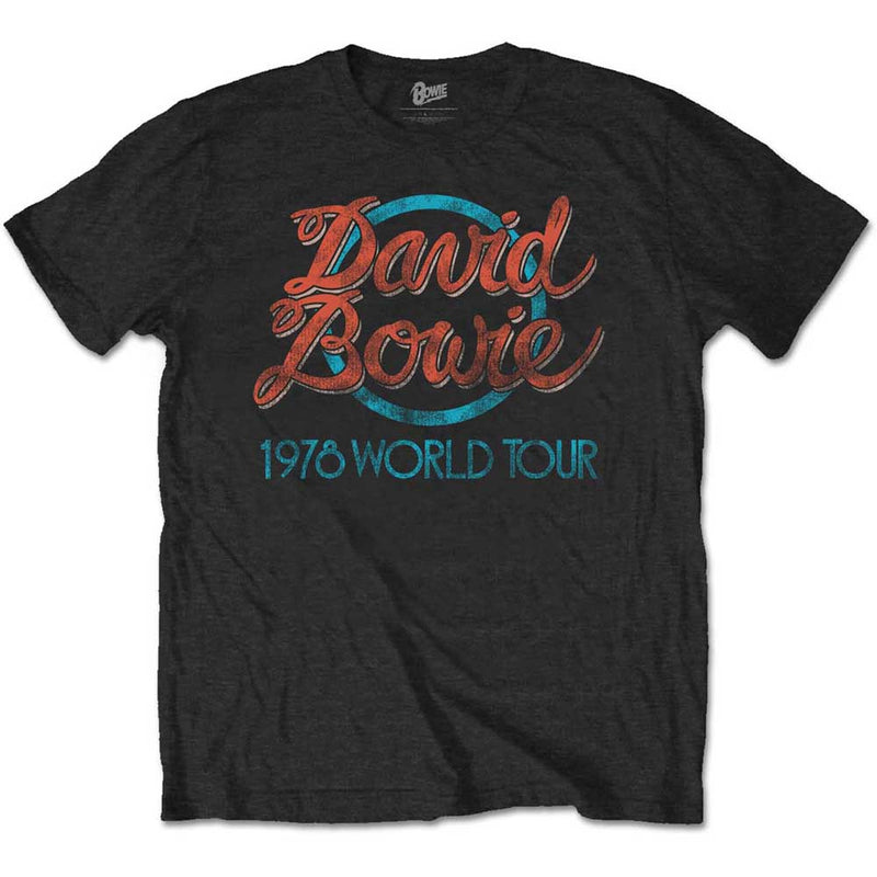 DAVID BOWIE UNISEX TEE: 1978 WORLD TOUR