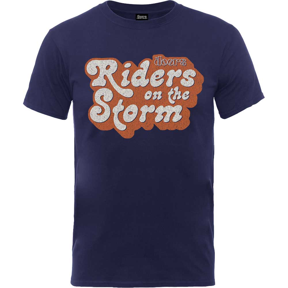 THE DOORS UNISEX TEE: RIDERS ON THE STORM LOGO