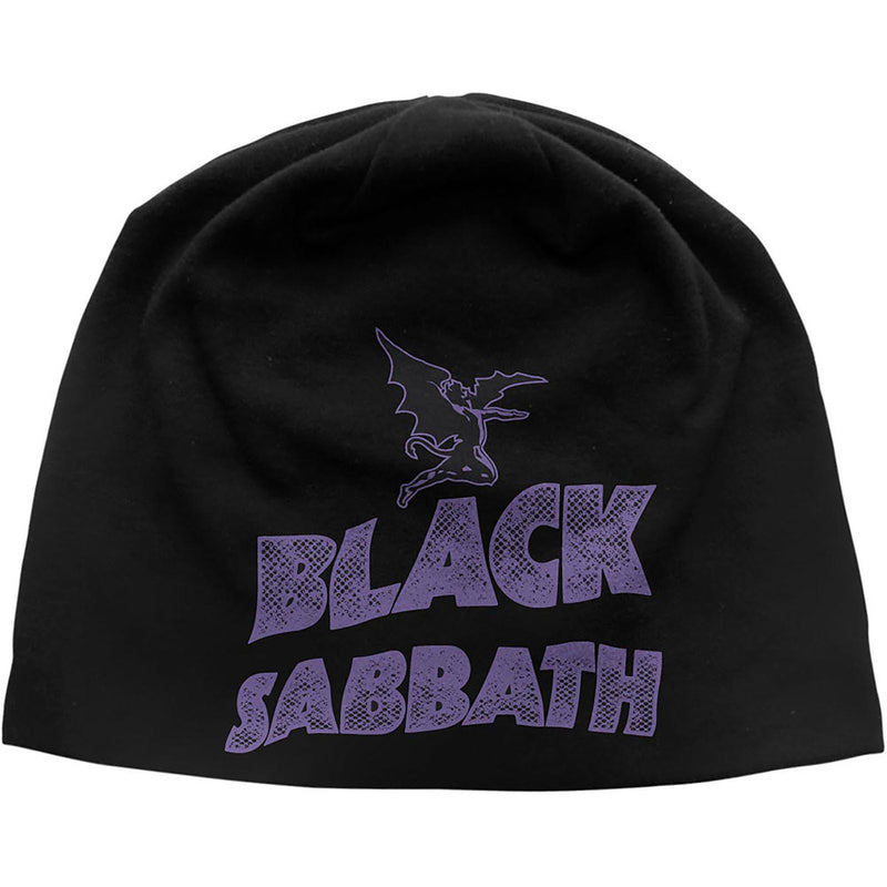 BLACK SABBATH UNISEX BEANIE HAT: LOGO & DEVIL