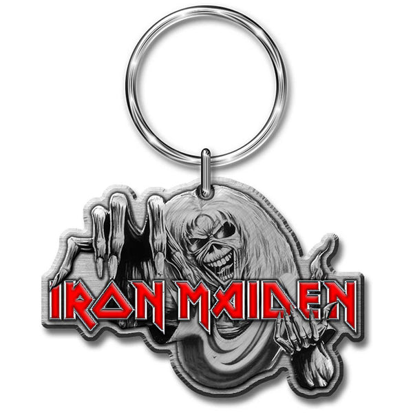 IRON MAIDEN KEYCHAIN: THE NUMBER OF THE BEAST (ENAMEL IN-FILL)
