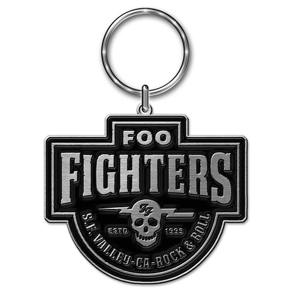 FOO FIGHTERS KEYCHAIN: ESTABLISHED 1995 (DIE-CAST RELIEF)