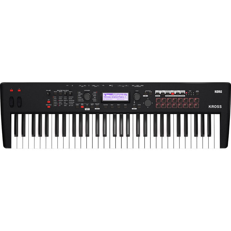 KORG KROSS 2 61-Key Synthesizer Workstation (Super Matte Black)