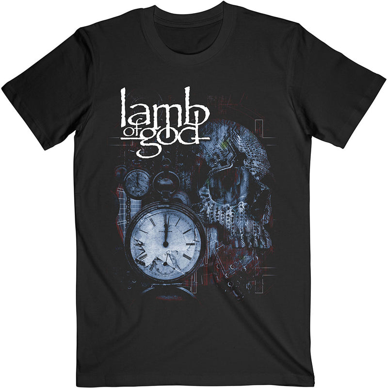 LAMB OF GOD UNISEX TEE: CIRCUITRY SKULL RECOLOR