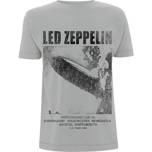 LED ZEPPELIN UNISEX TEE: UK TOUR '69 LZ1.