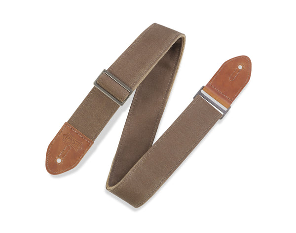"STRAP GUITAR LEVY'S 2"" Traveler Waxed Canvas Guitar Strap with Cotton Backing"