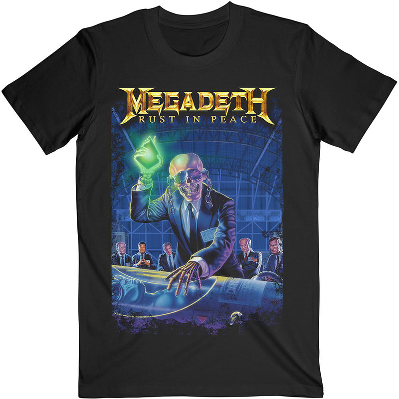 MEGADETH UNISEX TEE: RUST IN PEACE 30TH ANNIVERSARY (BACK PRINT)