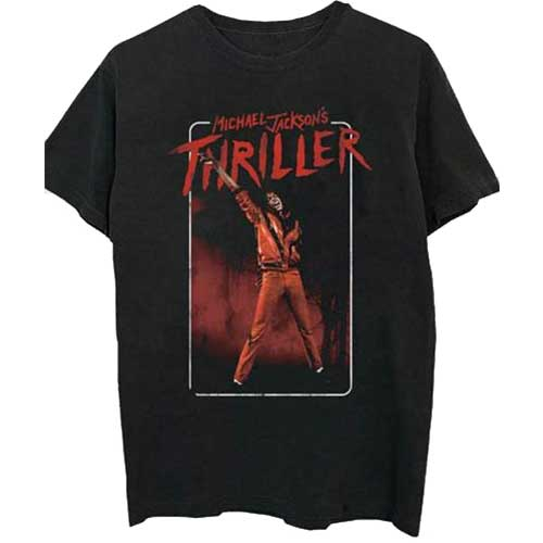 MICHAEL JACKSON UNISEX TEE: THRILLER WHITE RED SUIT