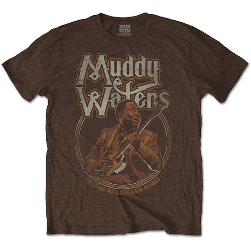 MUDDY WATERS UNISEX TEE: FATHER OF CHICAGO BLUES