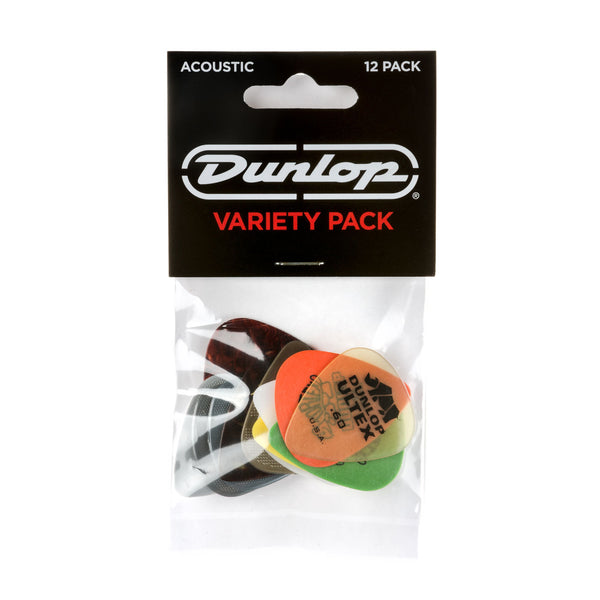 Dunlop Acoustic Guitar Pick Variety Pack (12/pack)