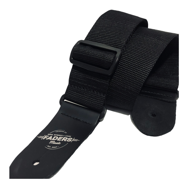 Faders Music Logo Guitar Strap - Black