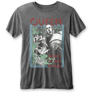QUEEN UNISEX TEE: NEWS OF THE WORLD (BURN OUT)