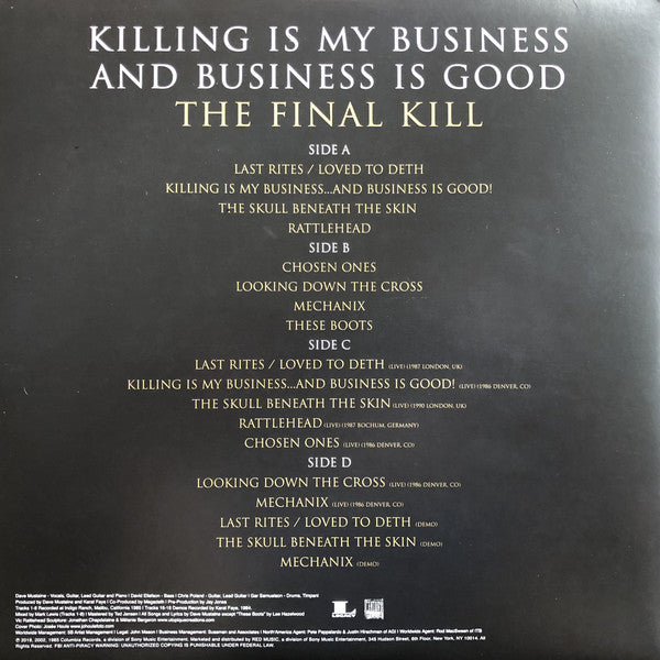 VINYL MEGADETH KILLING IS MY BUSINESS.. AND BUSINESS IS GOOD THE FINAL KILL (2LP) (2LP)