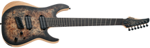 Schecter Reaper-7 Multiscale Satin Charcoal Burst