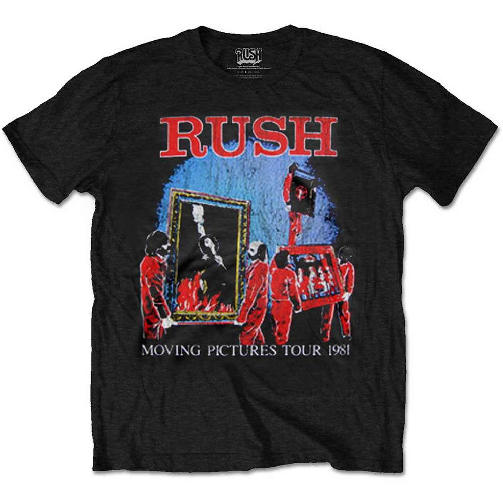 RUSH UNISEX TEE: MOVING PICTURES TOUR