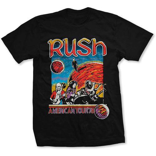RUSH UNISEX TEE: US TOUR 1978