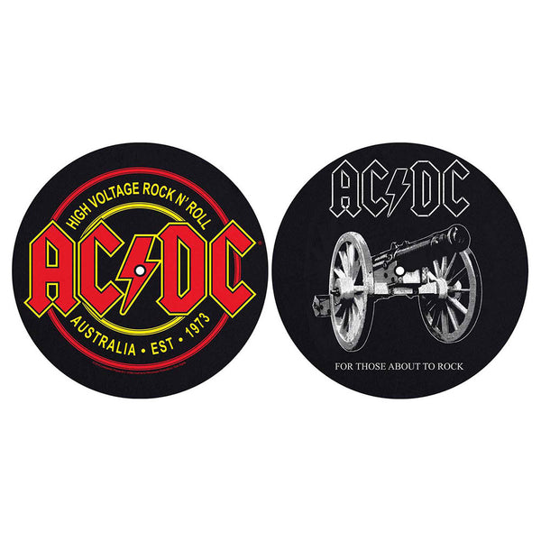 AC/DC TURNTABLE SLIPMAT SET: FOR THOSE ABOUT TO ROCK/HIGH VOLTAGE (RETAIL PACK