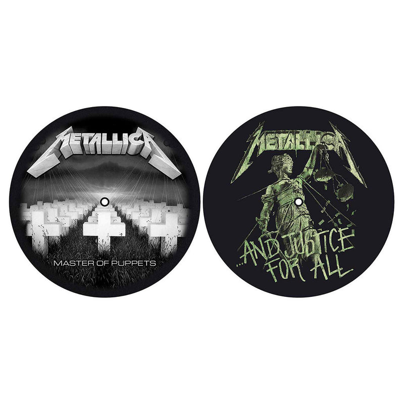 METALLICA TURNTABLE SLIPMAT SET: MASTER OF PUPPETS / AND JUSTICE FOR ALL (RETAIL PACK)