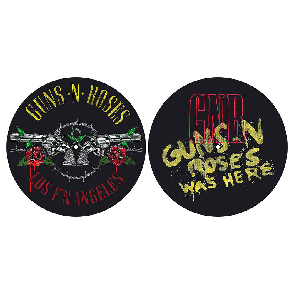 GUNS N' ROSES TURNTABLE SLIPMAT SET: LOS F'N ANGELES / WAS HERE (RETAIL PACK)