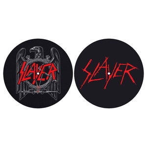 SLAYER TURNTABLE SLIPMAT SET: EAGLE/SCRATCHED LOGO (RETAIL PACK)