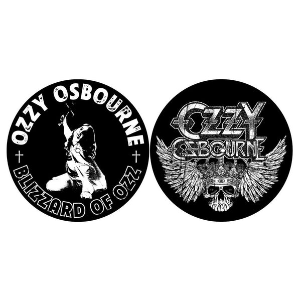 OZZY OSBOURNE TURNTABLE SLIPMAT SET: BLIZZARD OF OZZ/CREST (RETAIL PACK)