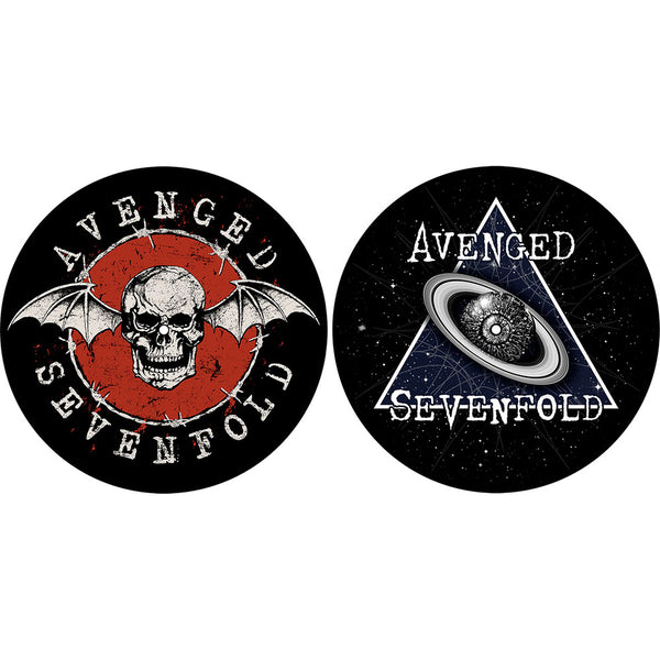 AVENGED SEVENFOLD TURNTABLE SLIPMAT SET: SKULL / SPACE (RETAIL PACK)