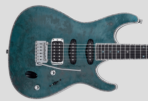 Ibanez SA Series SA560 Maple Burl - Aqua Blue Flat