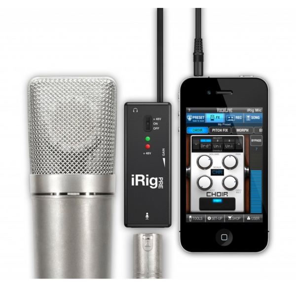 iRig Pre XLR microphone interface for iOS and Android