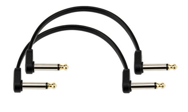 D'Addario Flat Patch Cables Offset Right-Angle, 6 inches